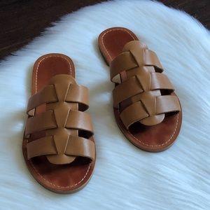 Lucky Brand Aisha Slide Woven Leather Sandals 7